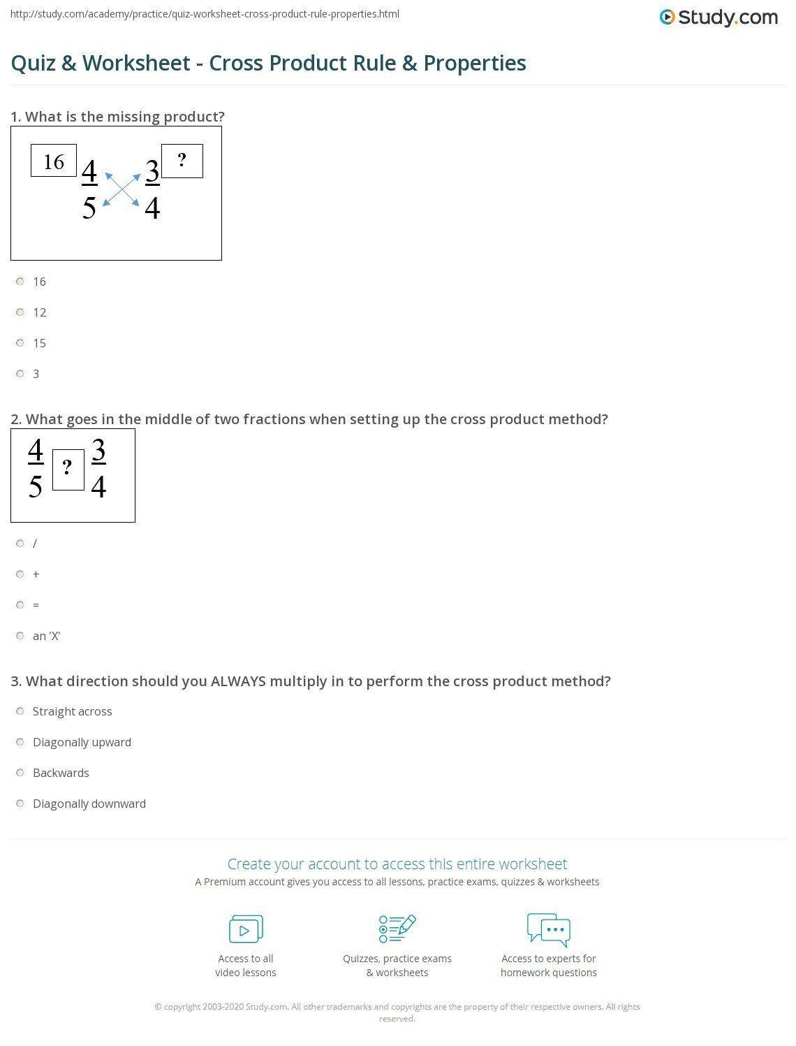 Zero Product Property Worksheet Quiz Worksheet Cross Product Rule Propertie In 2020 Money Math Worksheets Writing Practice Worksheets Kindergarten Money Worksheets [ 1497 x 1140 Pixel ]