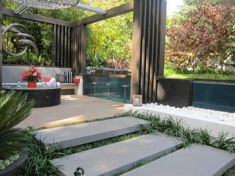Diseño de jardines pequeños y modernos - 50 ideas Jardín moderna - diseo de jardines urbanos