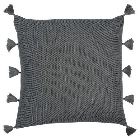 Rizzy Home Solid with texture22X22Cottondecorative filled pillow