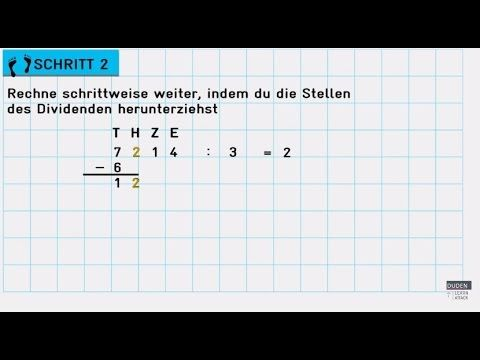 Wie Du Schriftlich Dividierst Lerntipps Mathe Lernen