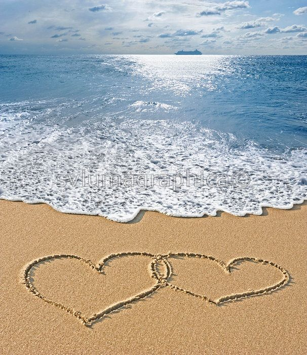 Hearts In The Sand Beach Heart In Nature I Love The Beach