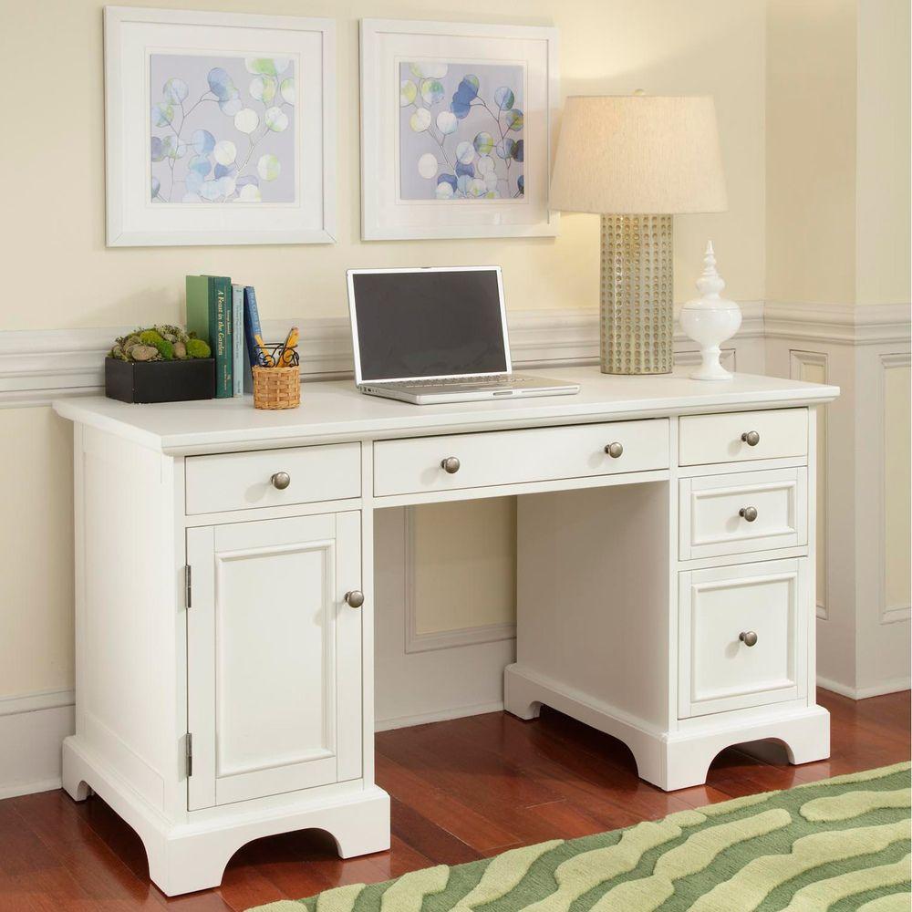 Www Overstock Furniture Com: Naples White Finish Pedestal Desk