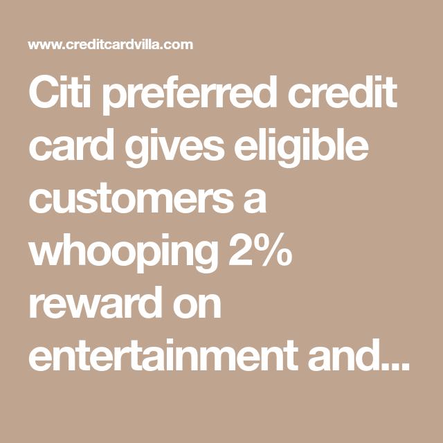 Citi Preferred Credit Card Application (March 2020