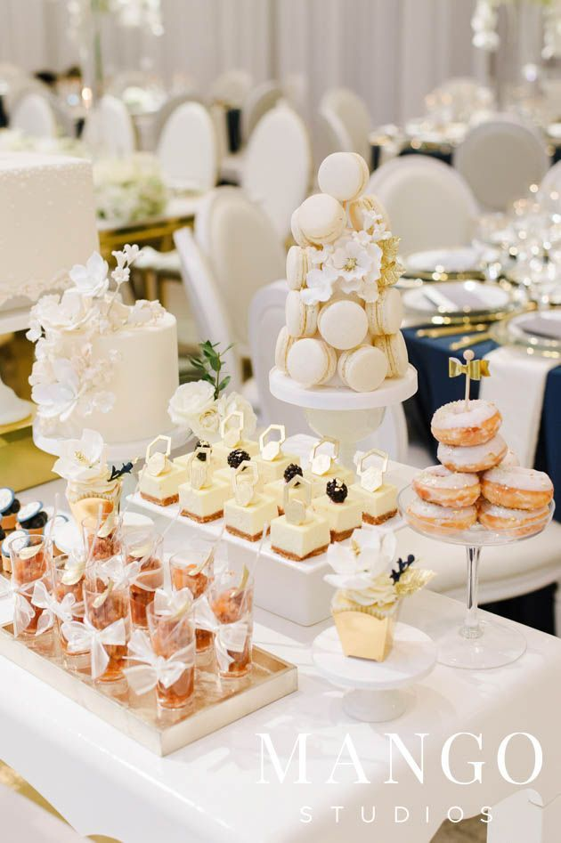 This Sweet Table At A Wedding Reception Looks Like Perfection