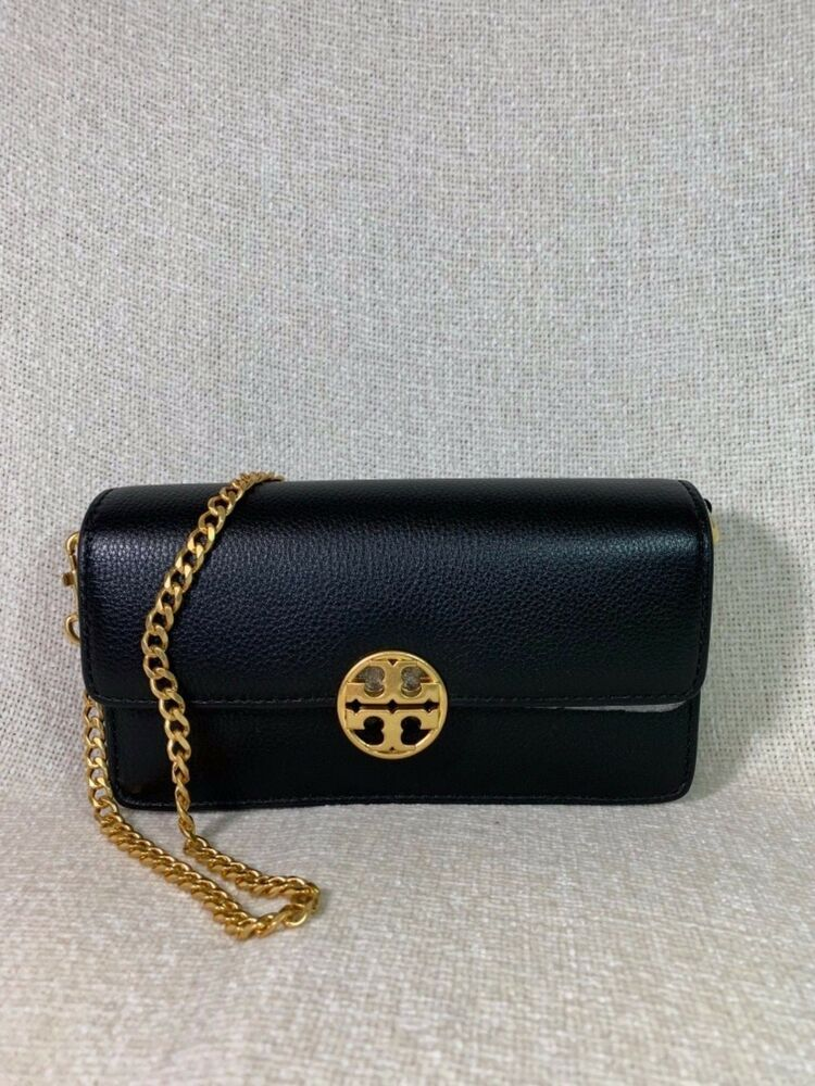 cd0ace99f97 NWT Tory Burch Black Chelsea Chain Pouch -  228  ToryBurch  ShoulderBag