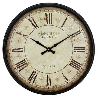 Round Indoor 11 Wall Clock In 2020 Wall Clock Round Wall Clocks Clock