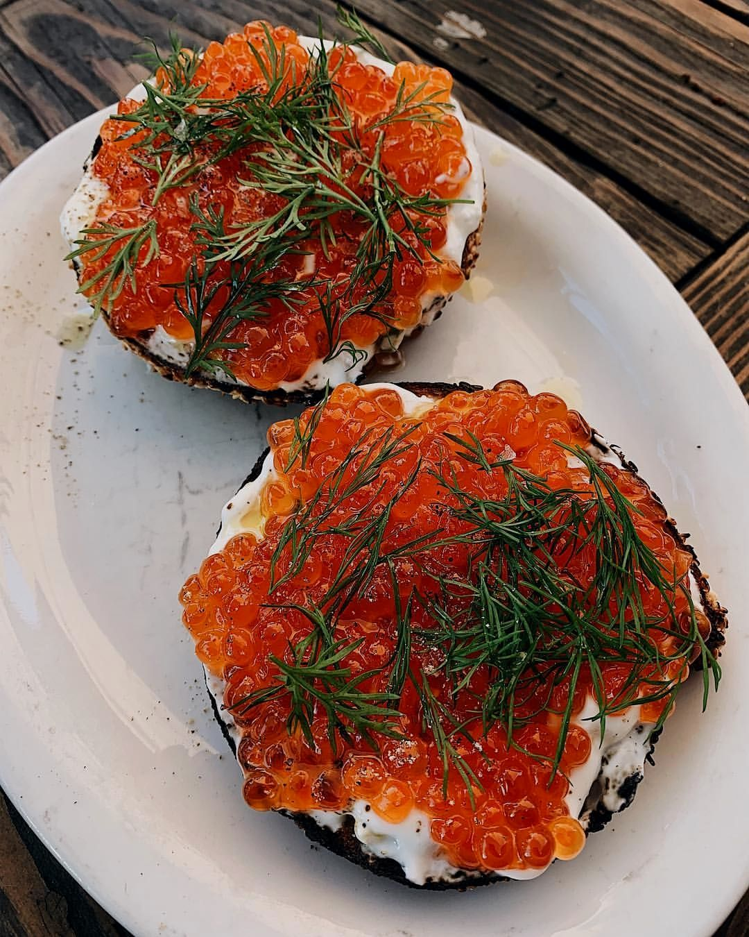 If You Visit La Make Sure You Go To Gjustabakery And Try These Salmon Roe Bagels Instant Pot Recipes Food Homemade Recipes