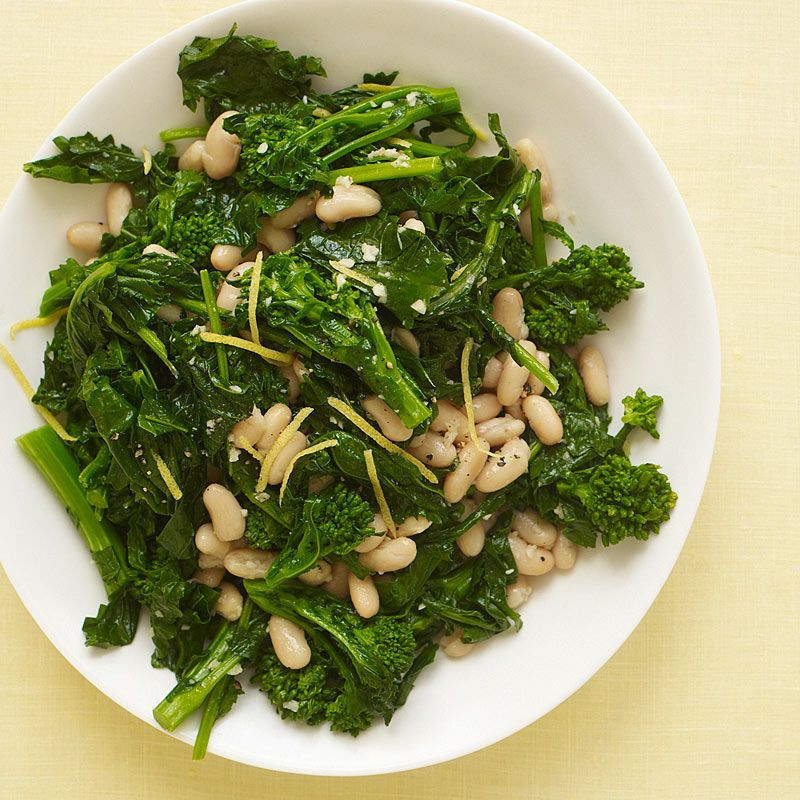 Broccoli Rabe with Cannellini Beans   Weight Watchers