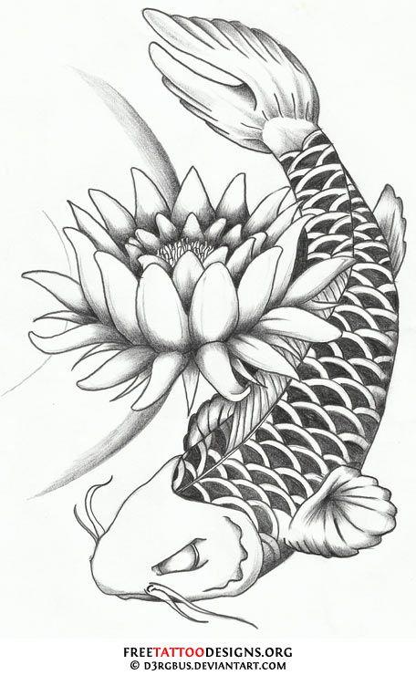 Free how to draw koi carp coloring pages | Koi fish tattoo
