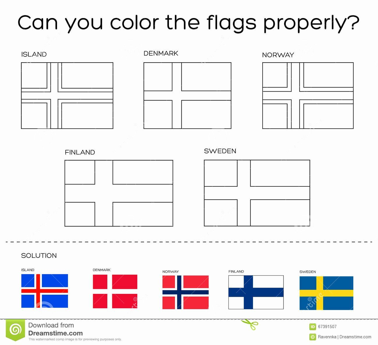 Sweden Flag Coloring Page In 2020 Sweden Flag Coloring Pages