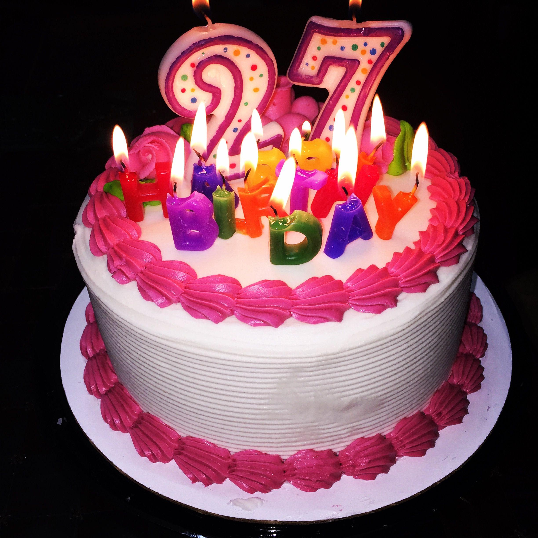 27th Birthday Cake Images Happy Birthday Cake Images