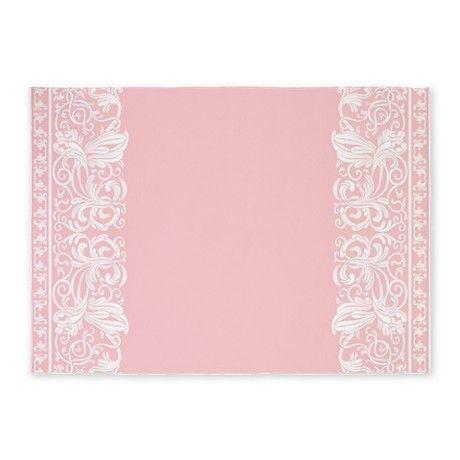 Light Pink Damask 5u0027x7u0027Area Rug