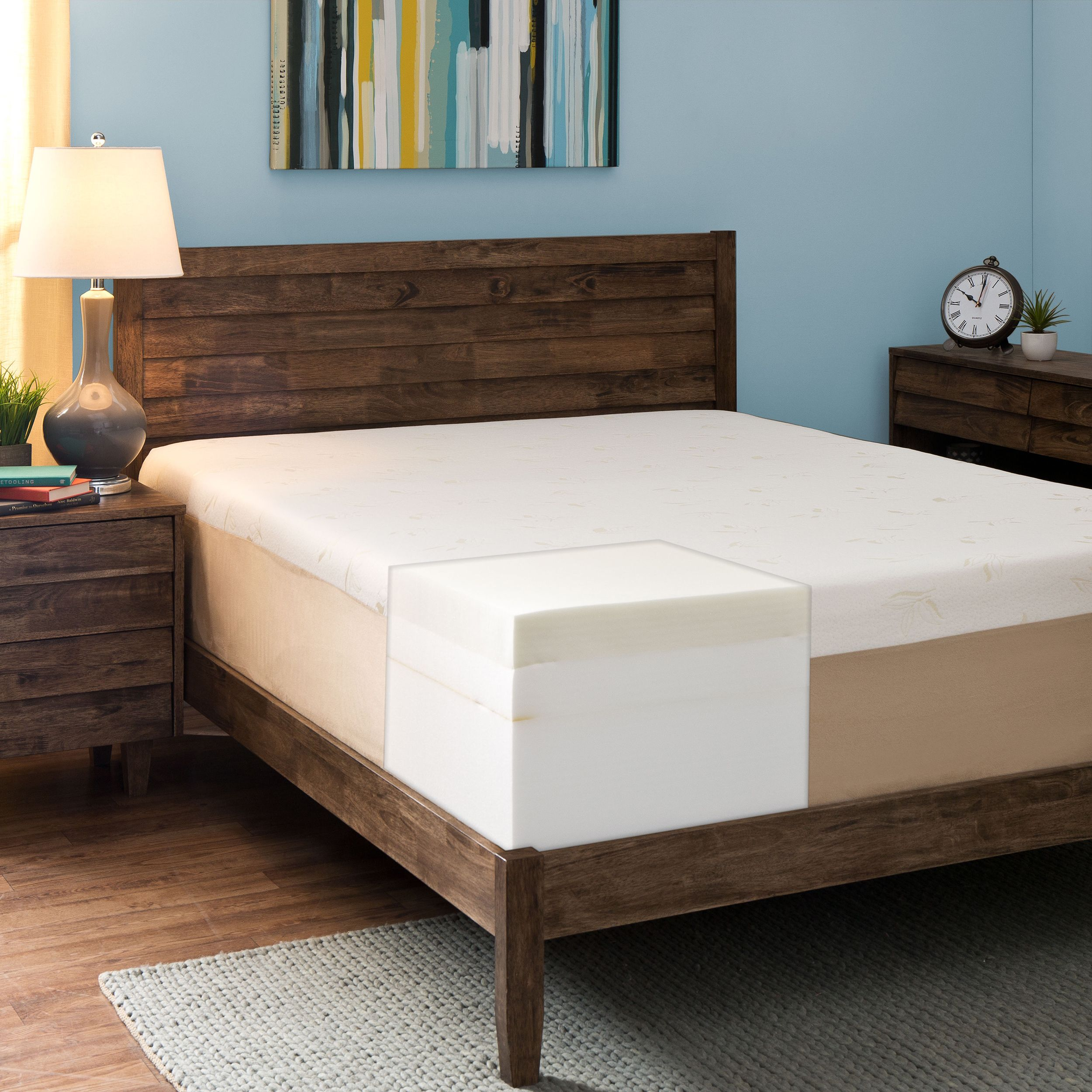 Enjoy Body Cradling Comfort With This Thick King Size Memory Foam