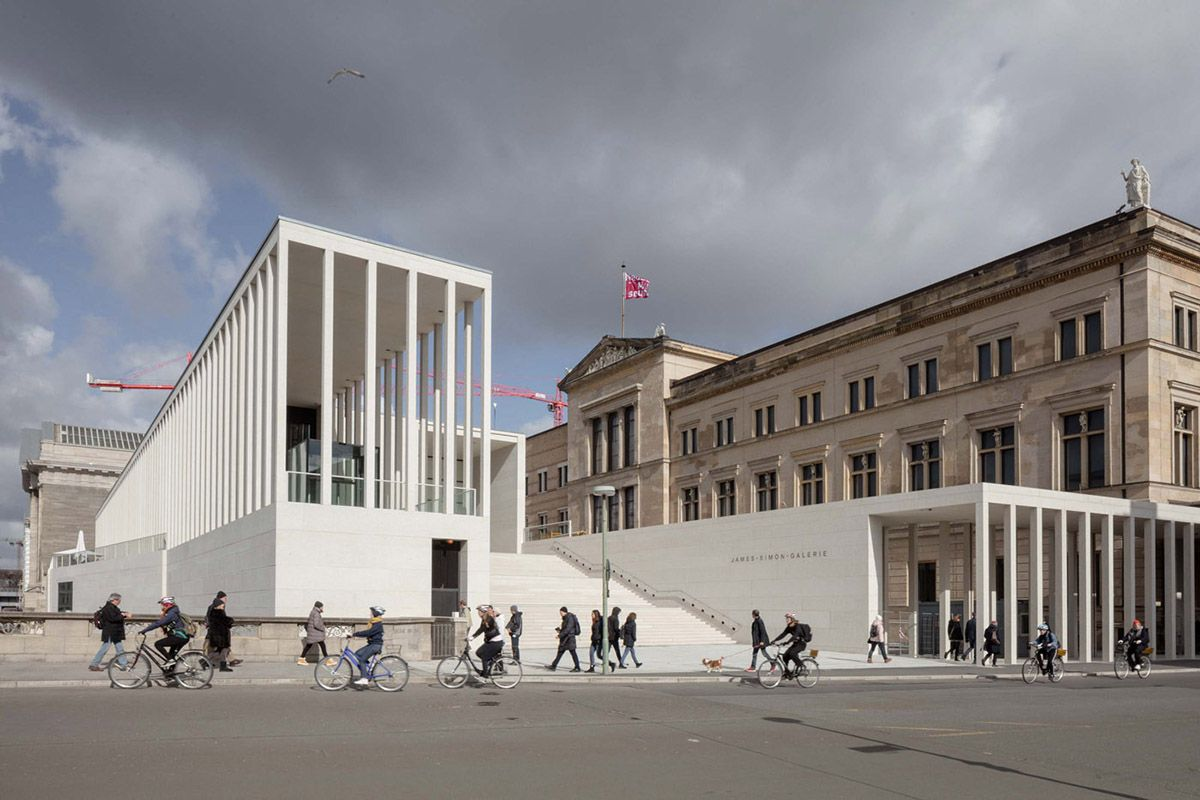 David Chipperfield Architects Opens James Simon Galerie On Berlin S Museum Island David Chipperfield Architects Museum Island Museum Architecture