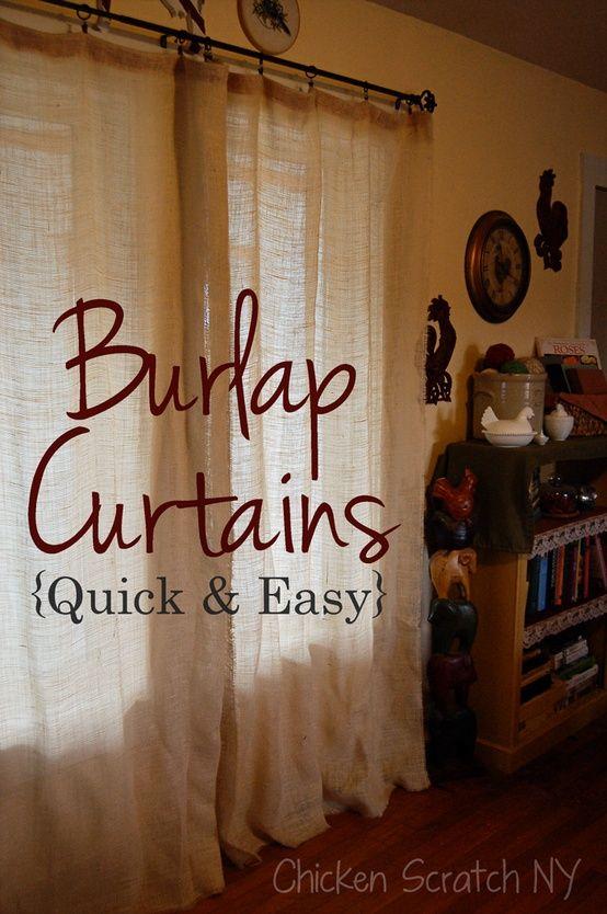 Decorative Burlap Curtains Burlap Curtains Diy Diy Curtains Burlap Curtains