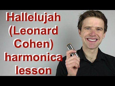 'Hallelujah' by Leonard Cohen - C harmonica lesson: How to play Halleluj...