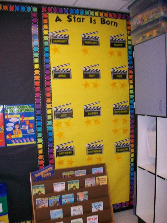 Hollywood Classroom Decor : A star is born birthday board clutter free classroom