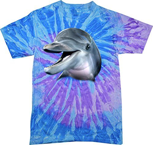 Mens Big Dolphin Face Tie Dye T-shirt, Spiral Lavender Blue, Small Buy Cool Shirts http://www.amazon.com/dp/B017Y0JYKK/ref=cm_sw_r_pi_dp_mcW2wb0506NAX