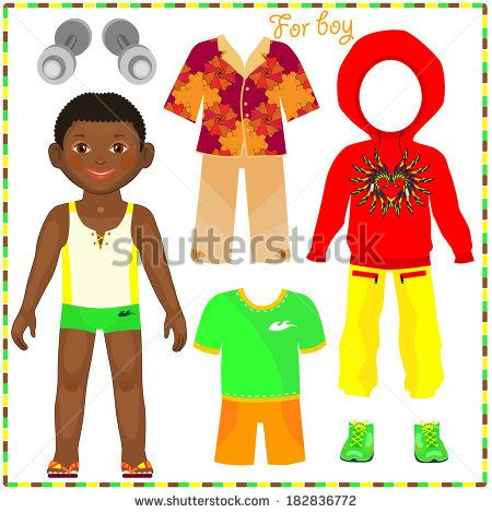 African American Paper Dolls Paper Doll With A Set Of With