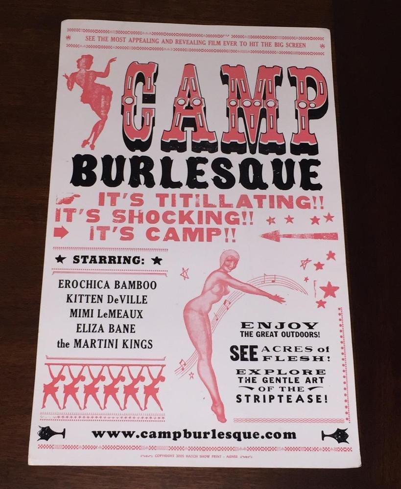 Camp Burlesque 05 Poster Lobby Card Erochica Bamboo Kitten Deville Martini Kings Lobby Cards Kitten Martini