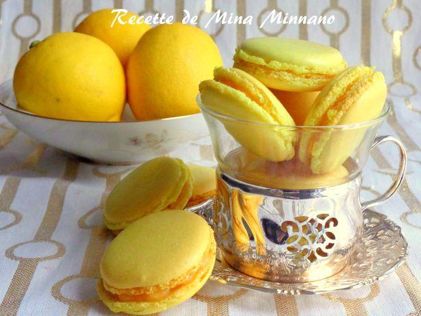 Macarons au lemon curd