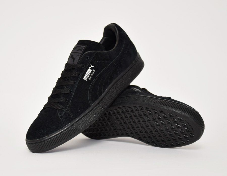 puma suede all black