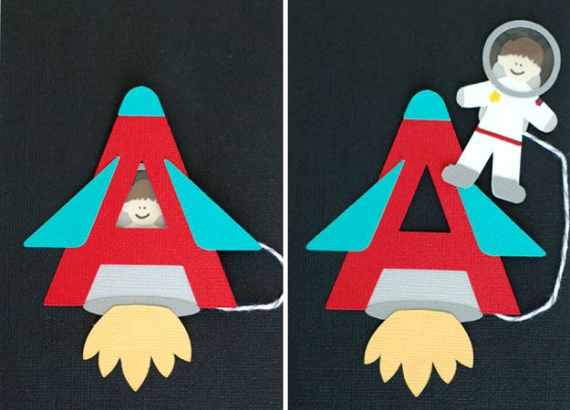 Aa Is For Astronaut Idea Connected With String.