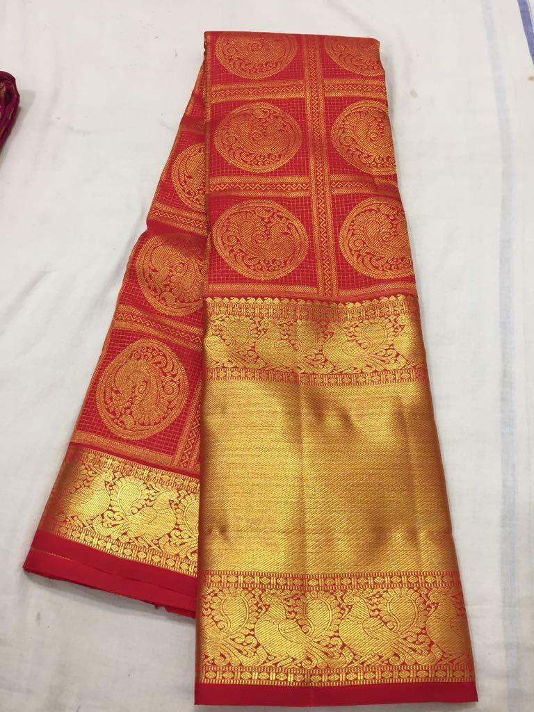 a85413eb63 PURE KANCHI PATTU SAREE #bigborder #kanchipattu #silk #saree ...