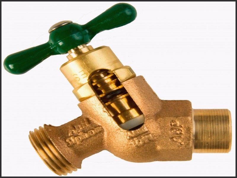 Elegant Arrowhead Hot Cold Outdoor Faucet