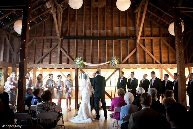 Ceremony In The Full Moon Resort Barn Wedding Photography By Www Jennifermayweddings