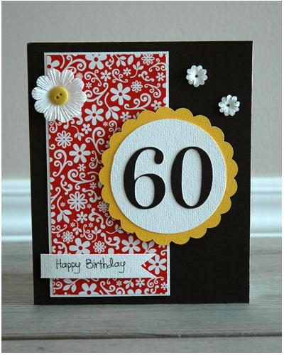 Crafty Cucumber Card Of The Week Happy 60th Birthday Such A Card