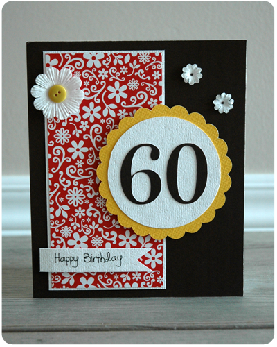 Card Of The Week Happy 60th Birthday 60th Birthday Cards Diy 60th Birthday Card Birthday Cards