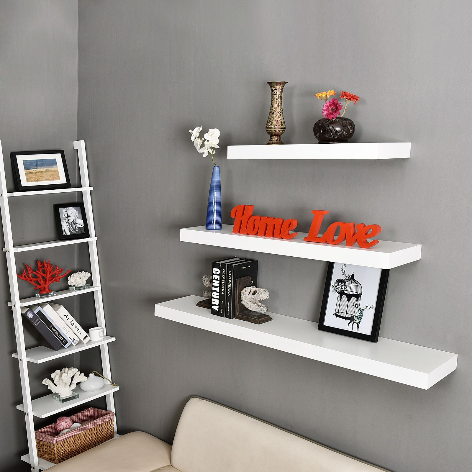 Welland 24 Inch Mission Floating Wall Shelf Off White Shelves Floating Shelves Floating Wall Shelves