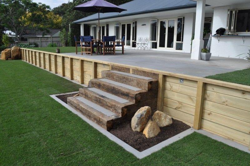 80233f549f212943f80331169ef52759 Jpg 800 531 Patio Stairs Concrete Patio Garden Retaining Wall
