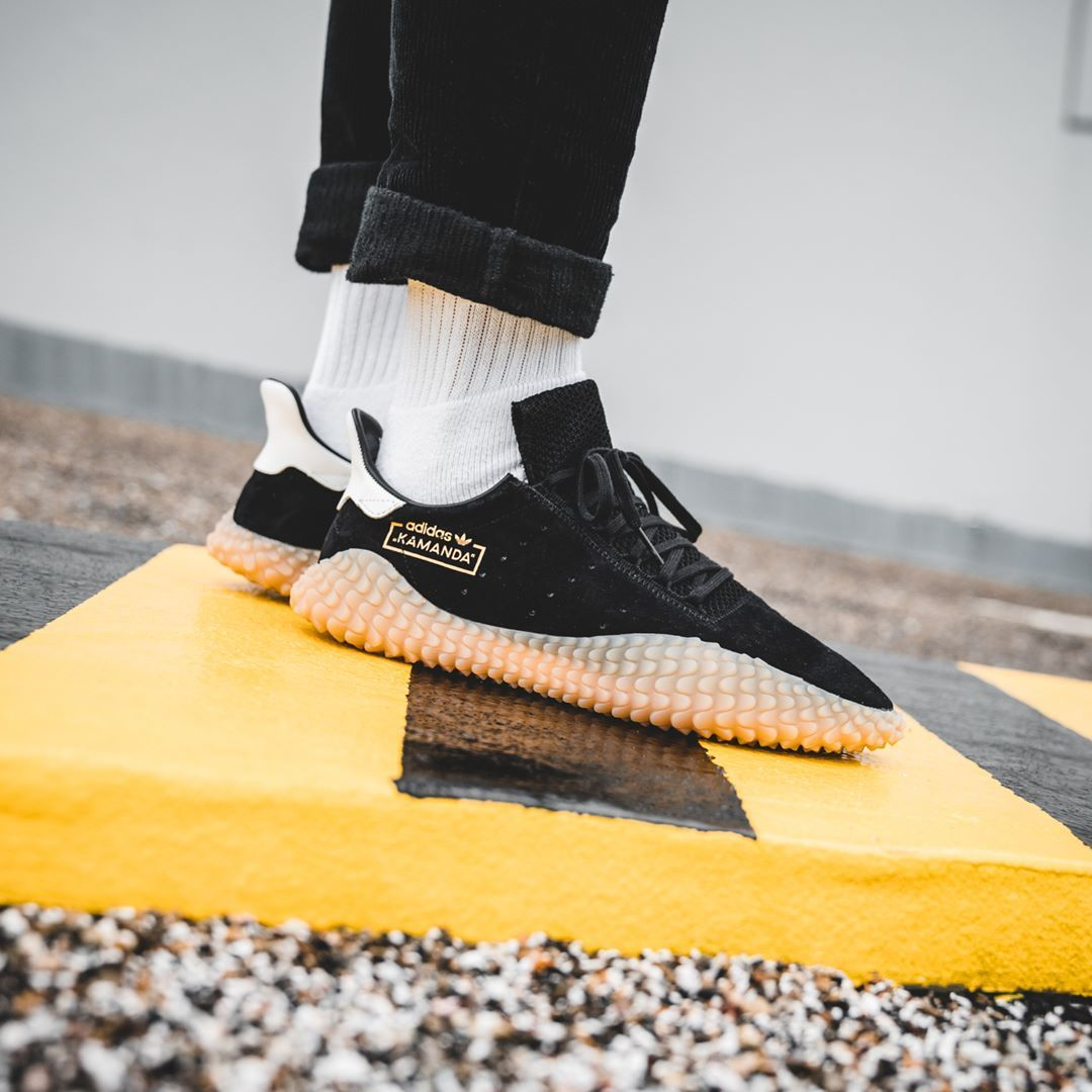 Release Date   April 28, 2018 Adidas Kamanda Black   Gum Credit   Solebox 6247401119b