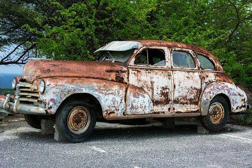 Vintage Car Rusty Old Auto Restauratie Oude Auto S Roest Verwijderen