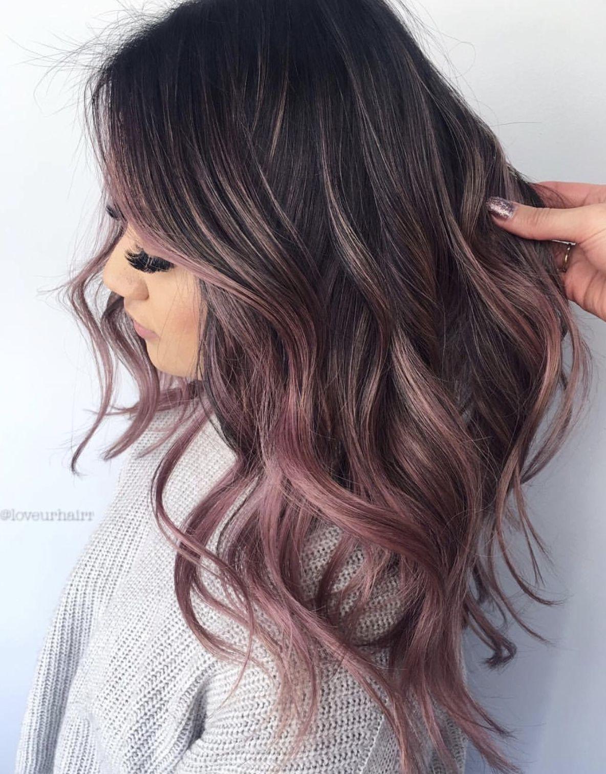 Pin By Hailey On Beauty Blackberry Hair Colour Hair Color For Fair Skin Hair Color Rose Gold