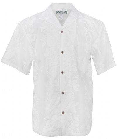 4074d662 Two Palms Hibiscus Panel Mens Hawaiian Aloha Shirt in White, Mens Hawaiian  Shirts Clothing, TP-501C-HIBISCUS-PANELS-WHITE