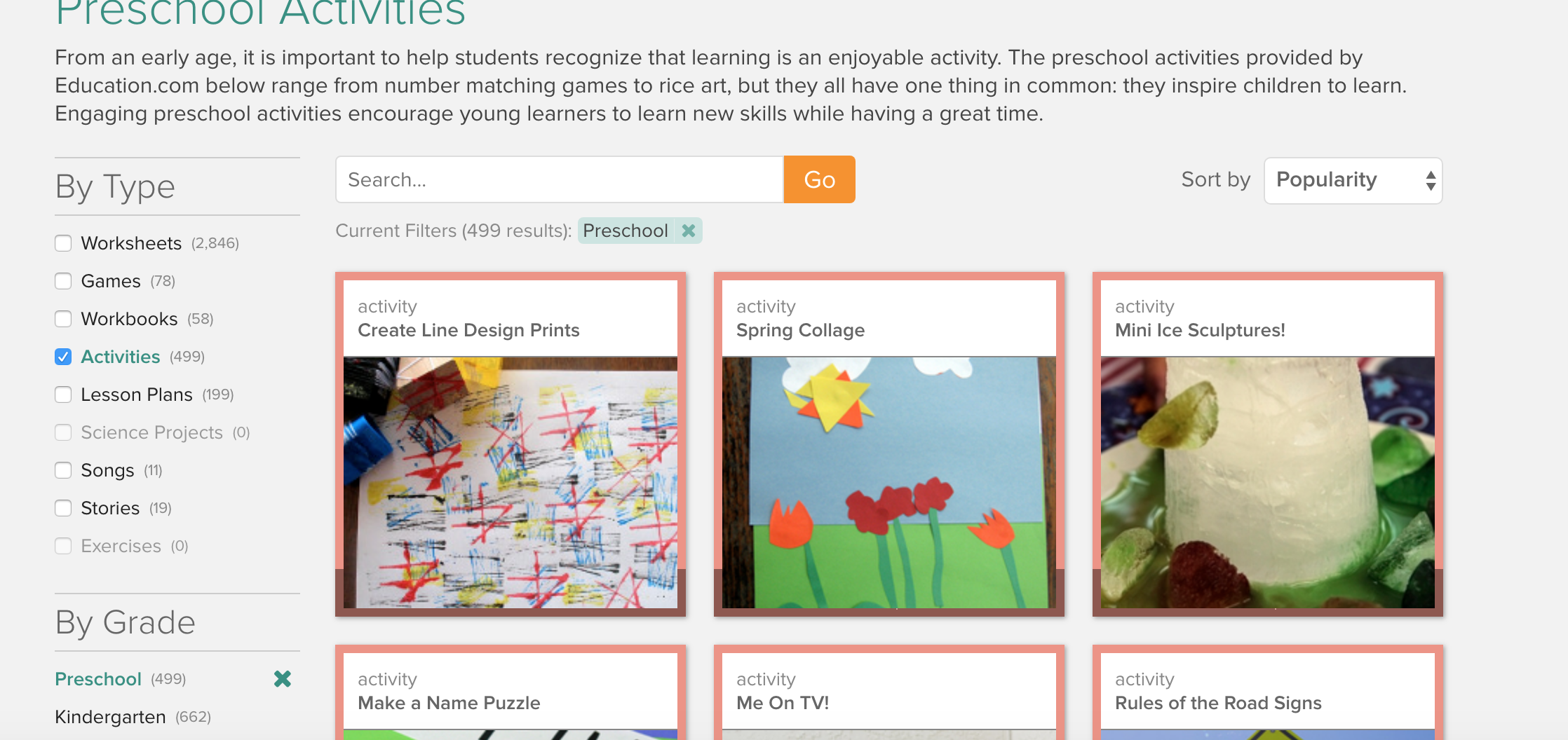 Embedded Learning Activities