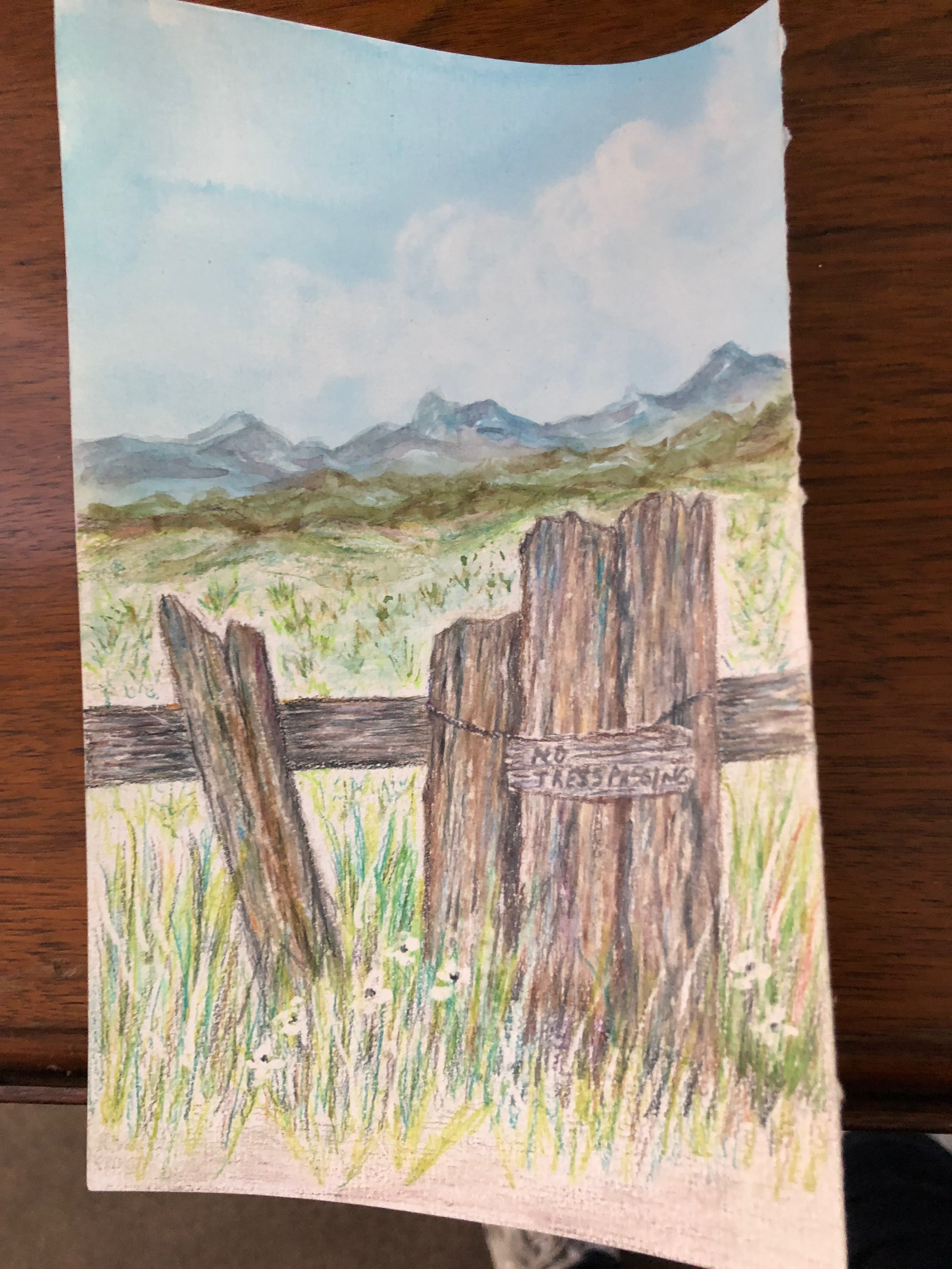 Old Fence Post 2 Old Fences Art Painting
