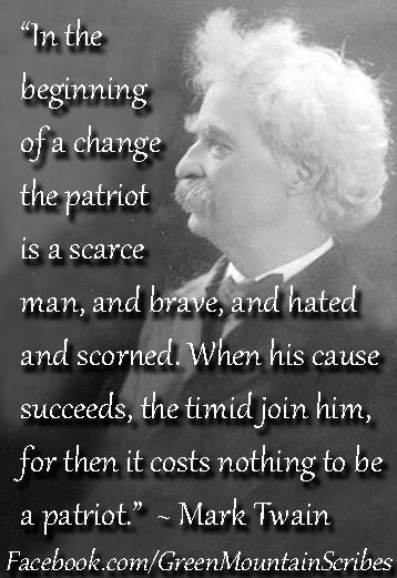 Patriot Mark Twain Quotes Inspirational Quotes Great Quotes