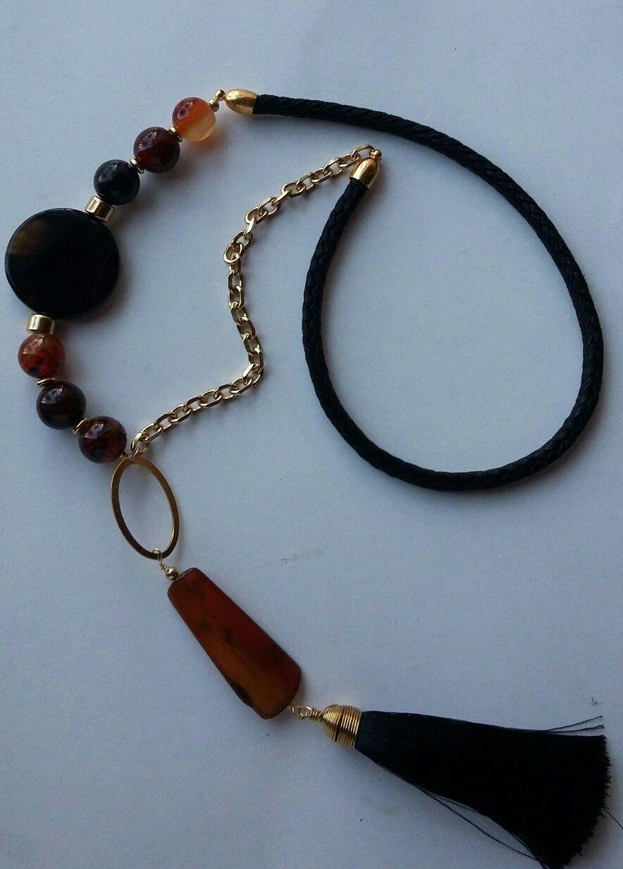 fc8917c58ccc Collar largo de Creaciones Little Flower. Bisutería fina 100% artesanal.