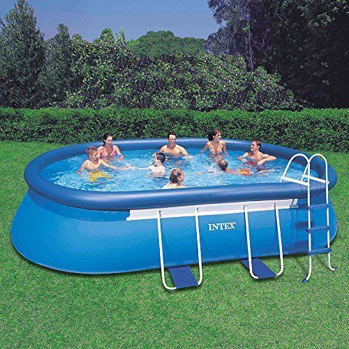 Intex 18ft X 10ft X 42in Oval Above Ground Swimming Pool