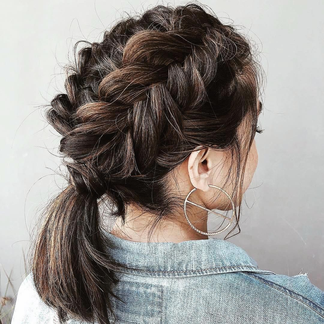 50 Best Short Hairstyles And Haircuts To Make You Feel Special In 2021 French Braid Short Hair Elegant Ponytail Hair Styles