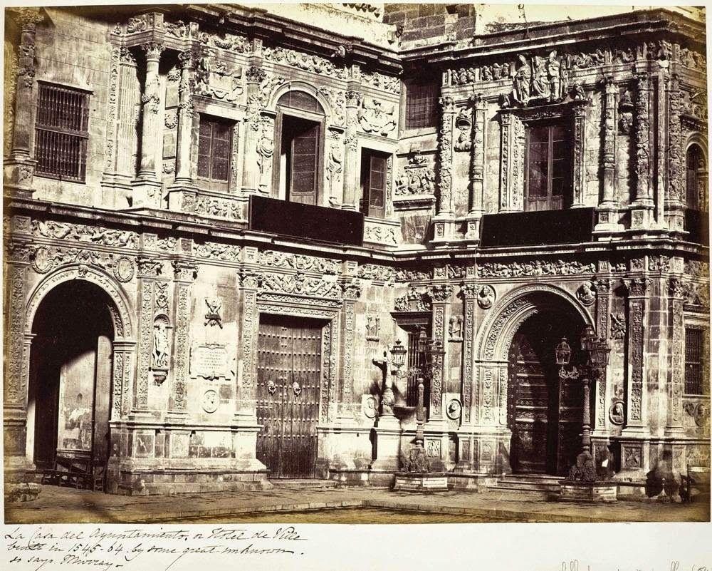 Fachada Del Ayuntamiento De Sevilla Antigua Postal