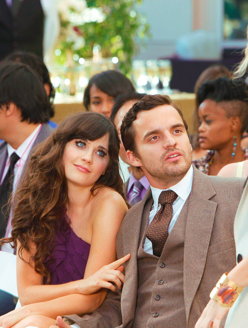 Funny scene from New Girl Purple wedding guest dresses