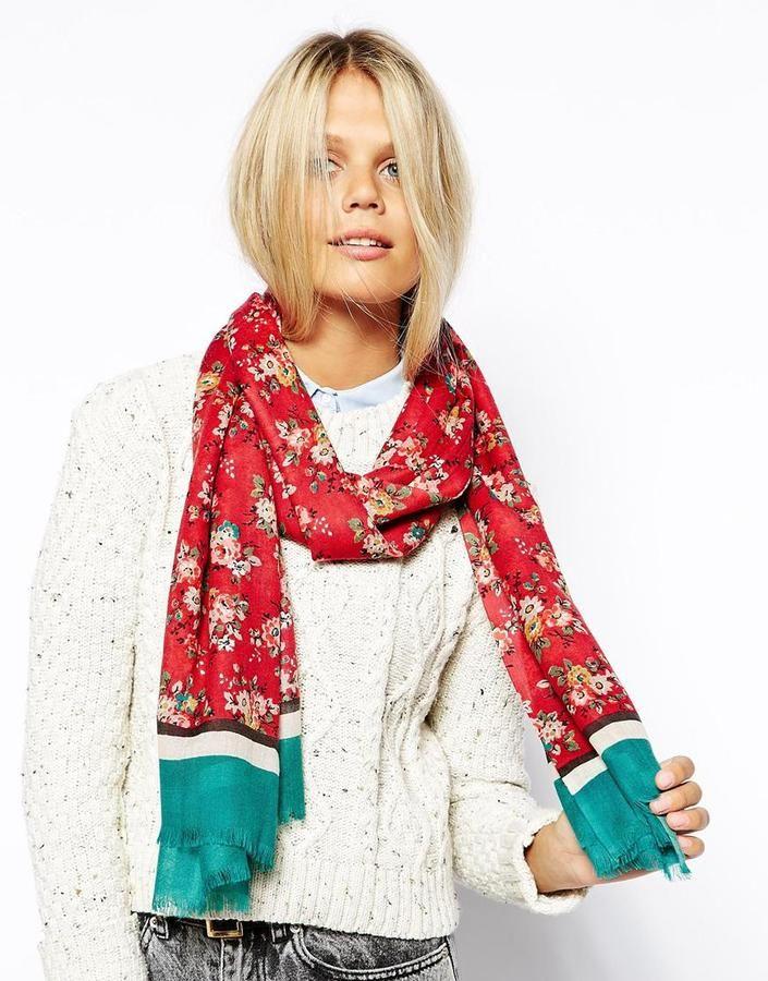 Cath Kidston Kingswood Rose Wool Shawl