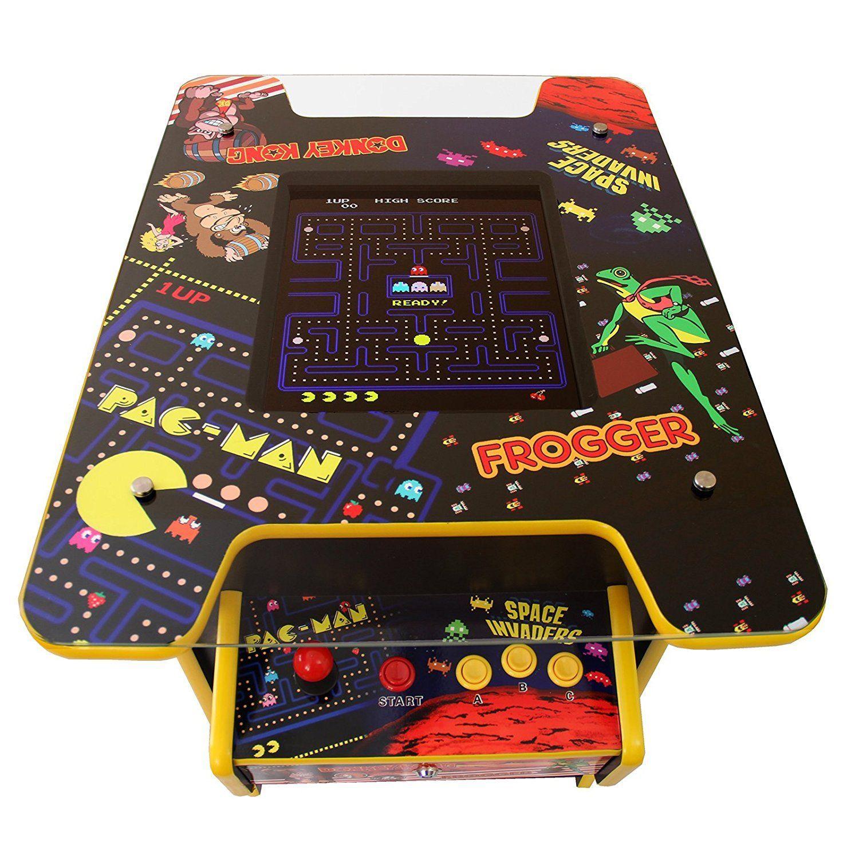 Cocktail table retro arcade games machine