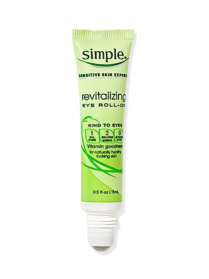 """EYE OPENER """"If you have sensitive under-eyes, you're more prone to puffiness,"""" says dermatologist Joshua Zeichner. This rollerball's serum is steeped in calming cucumber to depuff and vitamin C to brighten dark circles."""