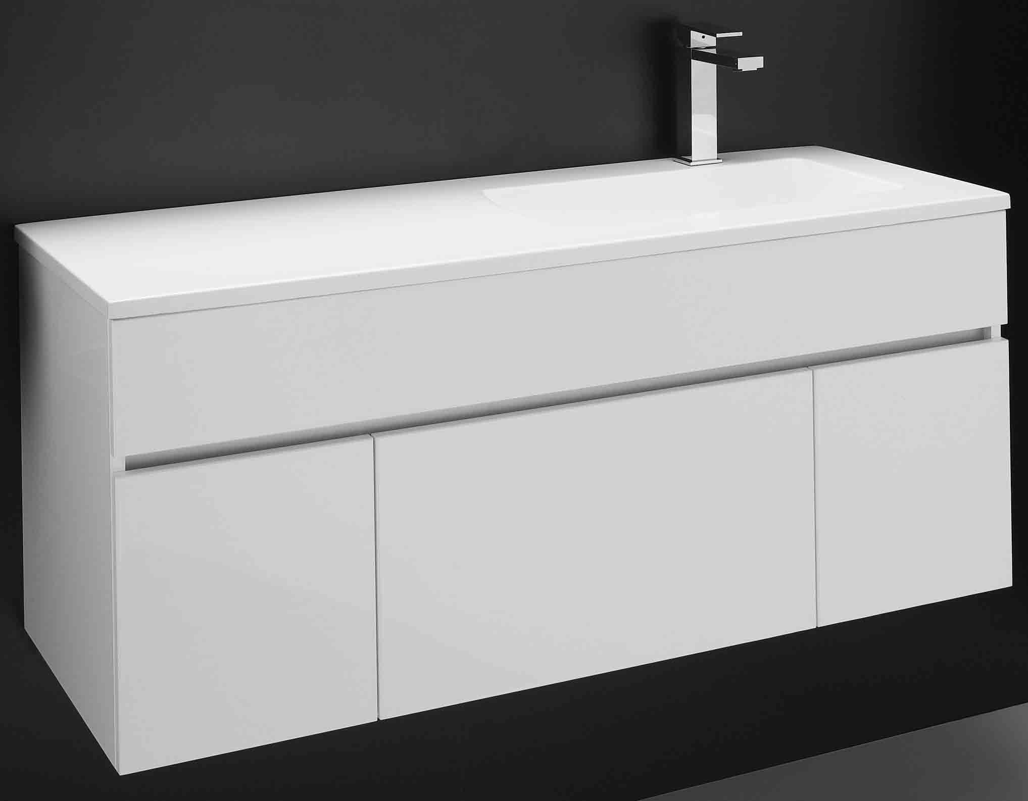 Bathroom vanity 1200 - Rifco Available At Reece Triniti Wall Hung Vanities